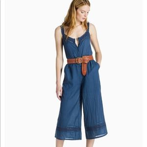 NWT Lucky Brand Stripe Culotte Jumpsuit